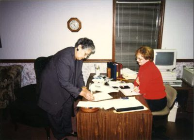 Lease buying in Gillette, Wyoming circa 1998